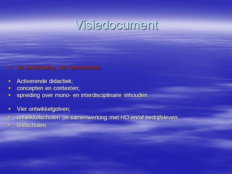 Visiedocument de ontwikkeling van lesmateriaal; Activerende didactiek;