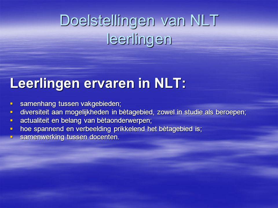 Doelstellingen van NLT leerlingen
