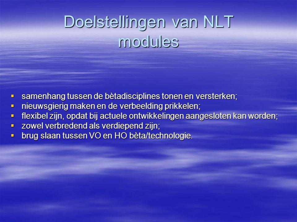 Doelstellingen van NLT modules