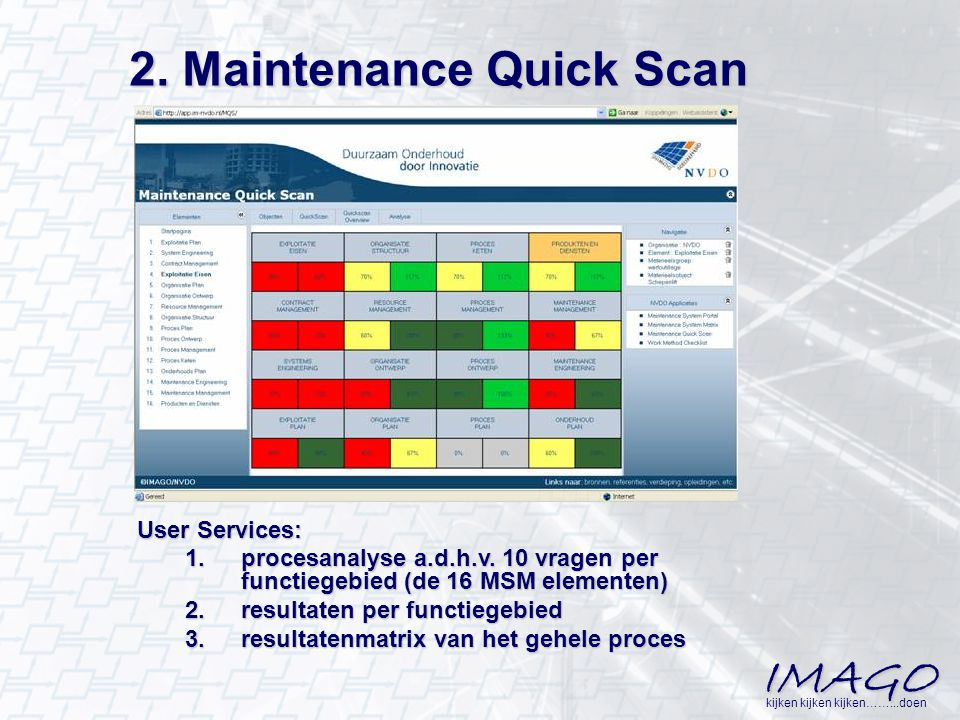 2. Maintenance Quick Scan
