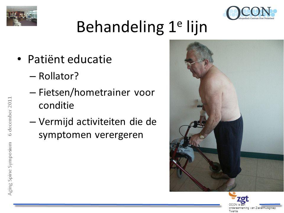 Behandeling 1e lijn Patiënt educatie Rollator