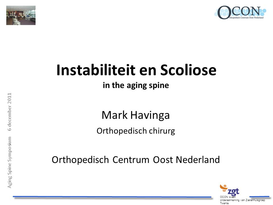 Instabiliteit en Scoliose in the aging spine