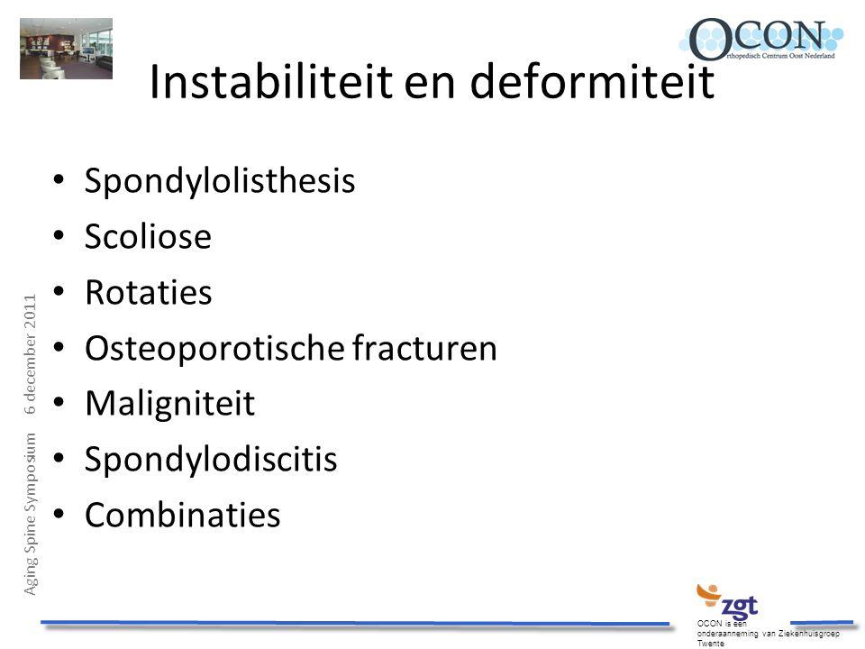 Instabiliteit en deformiteit
