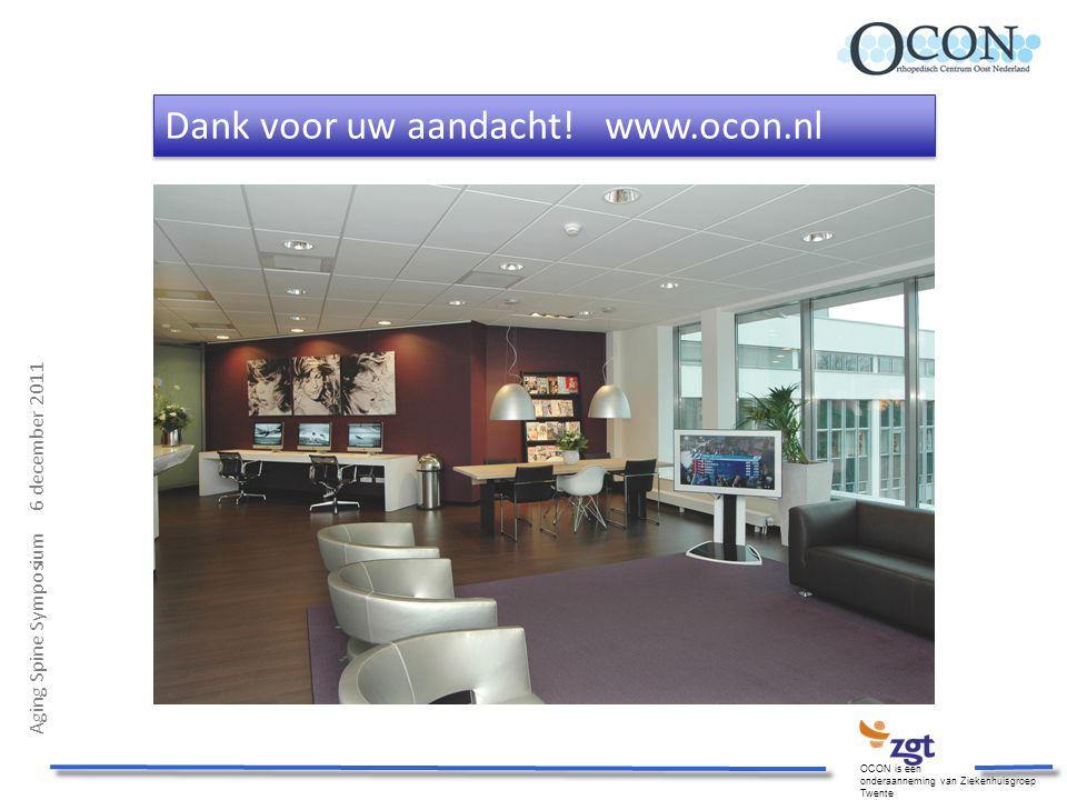 Dank voor uw aandacht! www.ocon.nl