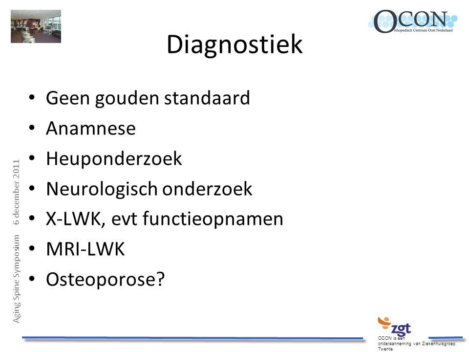 Diagnostiek Geen gouden standaard Anamnese Heuponderzoek