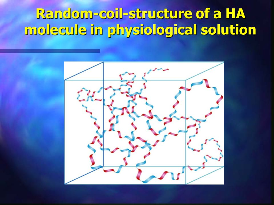Random-coil-structure of a HA molecule in physiological solution
