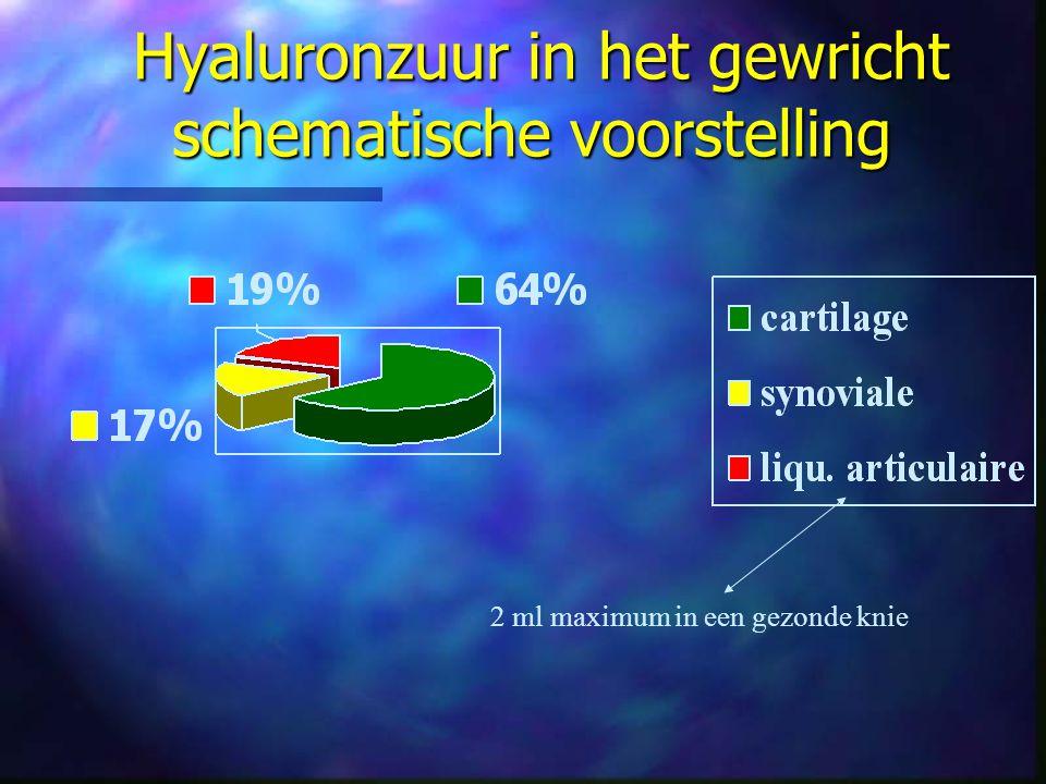 Hyaluronzuur in het gewricht schematische voorstelling