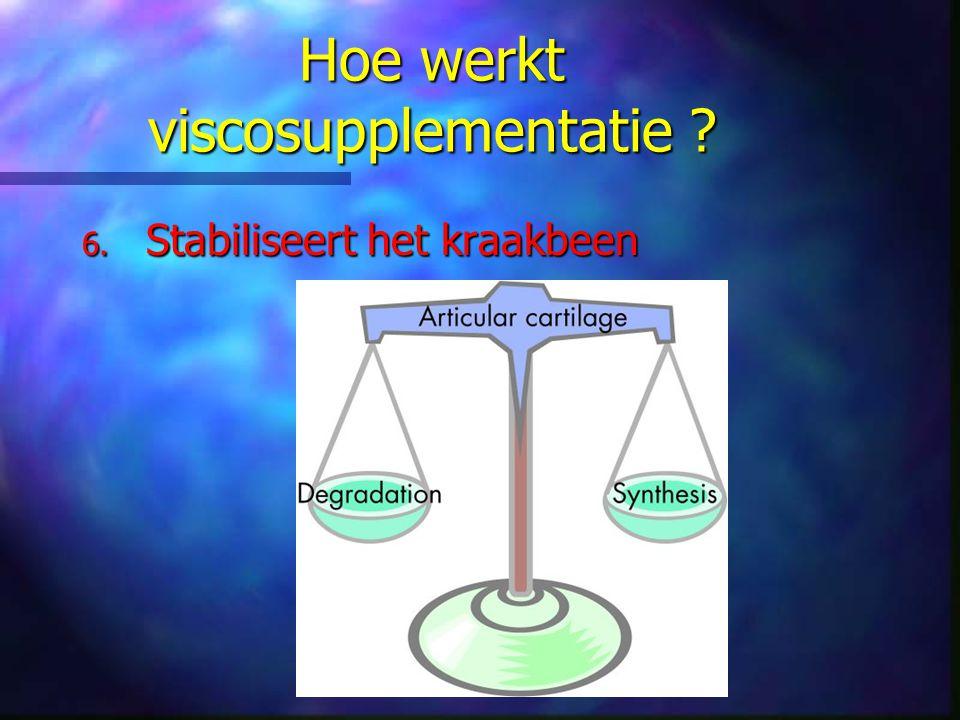 Hoe werkt viscosupplementatie