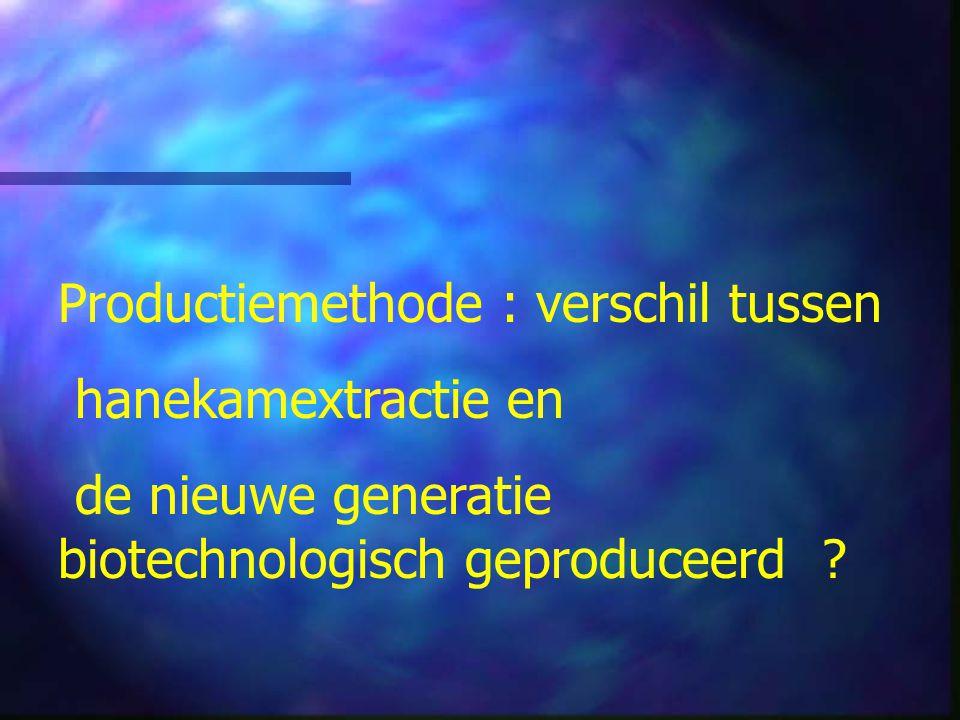 Productiemethode : verschil tussen