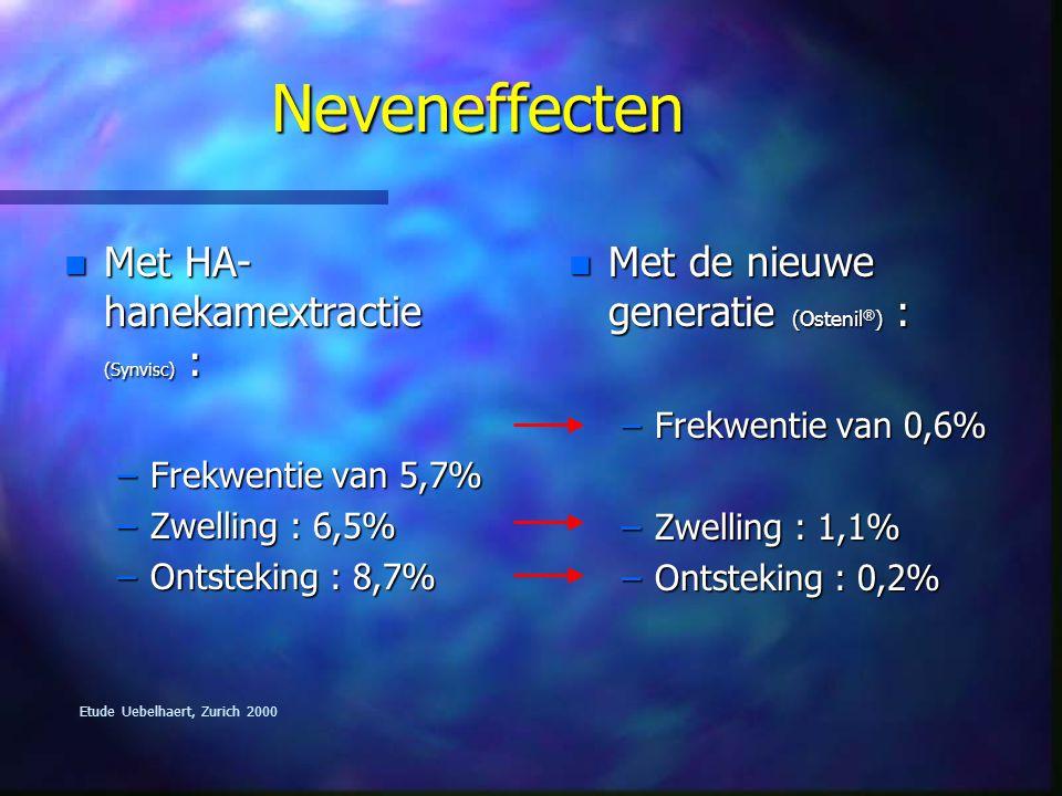 Neveneffecten Met HA-hanekamextractie (Synvisc) :