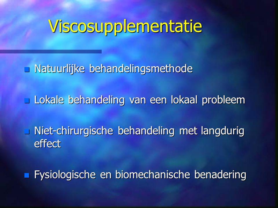 Viscosupplementatie Natuurlijke behandelingsmethode