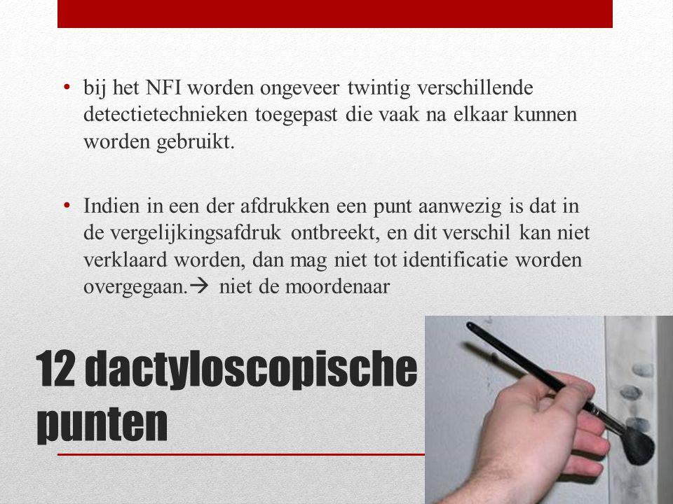 12 dactyloscopische punten