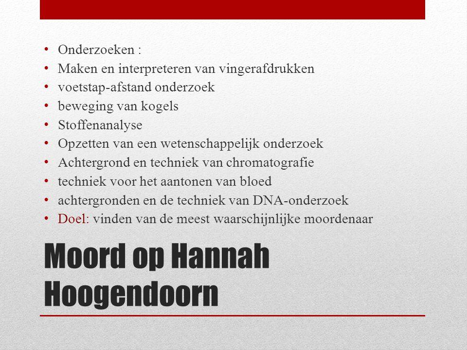 Moord op Hannah Hoogendoorn