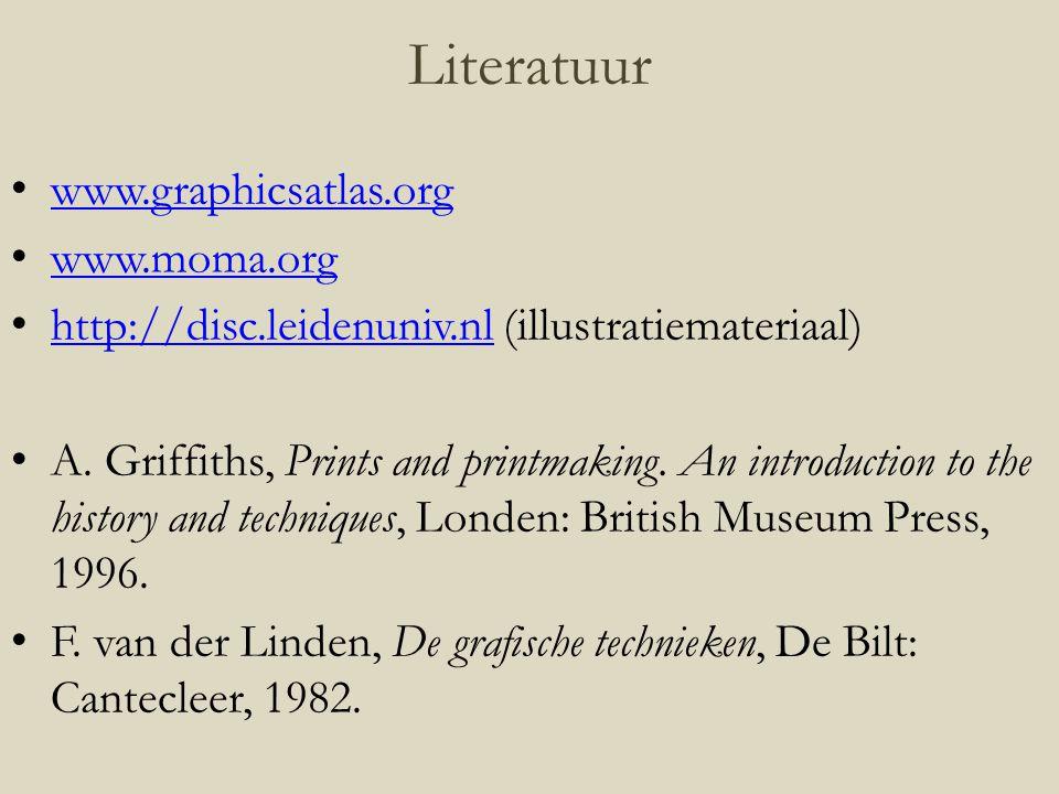 Literatuur www.graphicsatlas.org www.moma.org