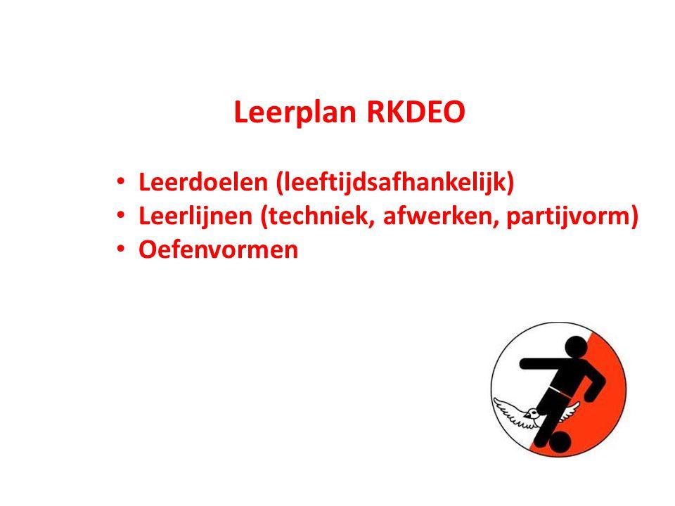 Leerplan RKDEO Leerdoelen (leeftijdsafhankelijk)