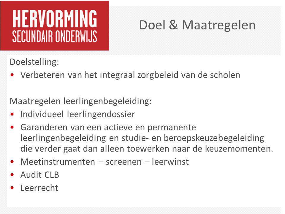 Doel & Maatregelen Doelstelling: