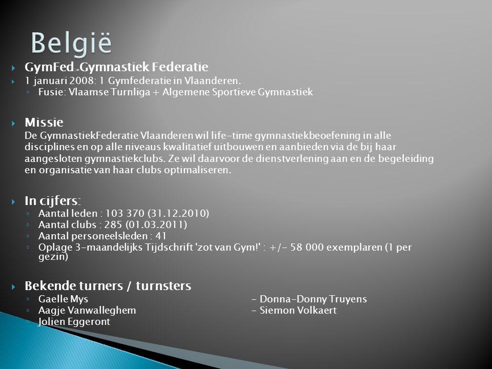 België GymFed:=Gymnastiek Federatie