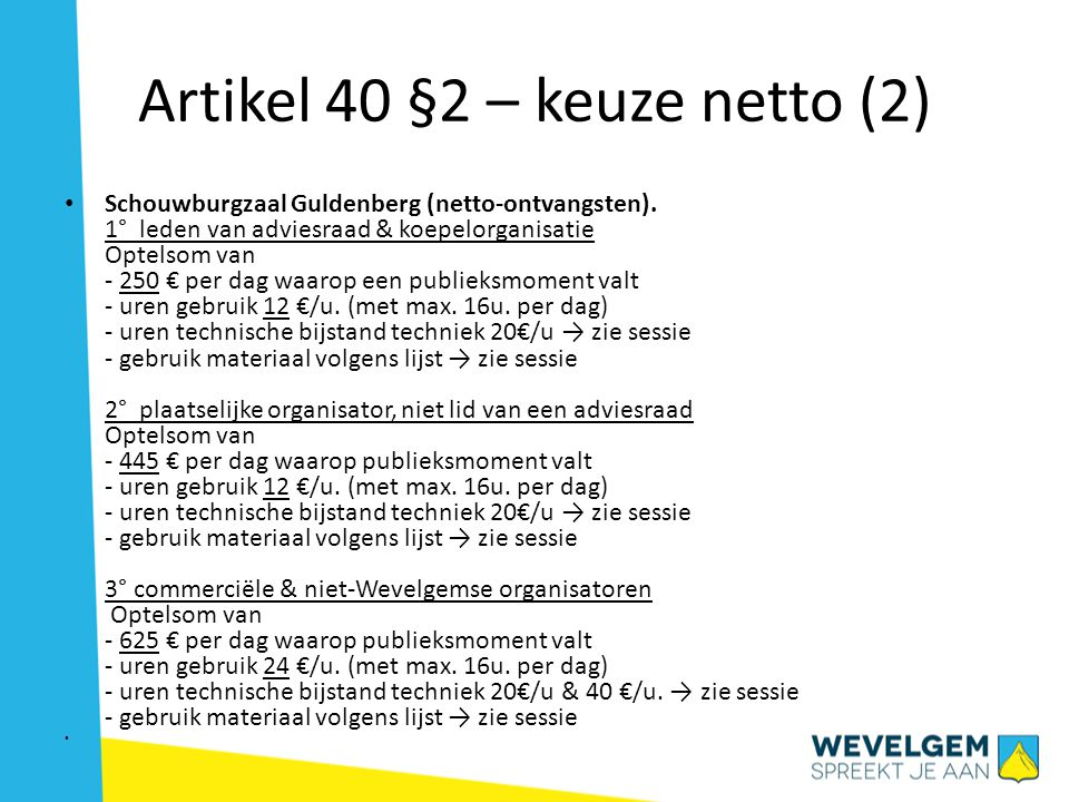 Artikel 40 §2 – keuze netto (2)