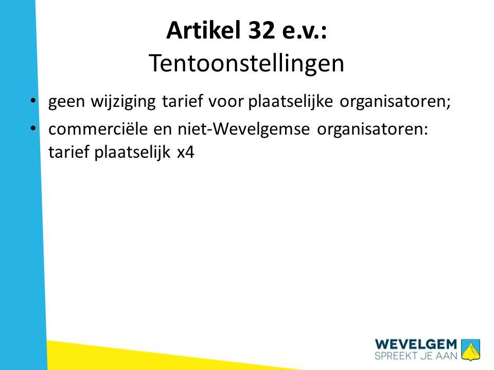 Artikel 32 e.v.: Tentoonstellingen