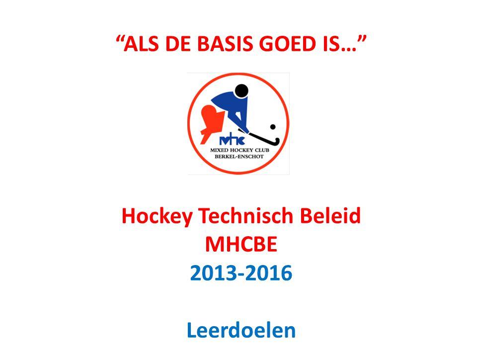 ALS DE BASIS GOED IS… Hockey Technisch Beleid MHCBE 2013-2016 Leerdoelen