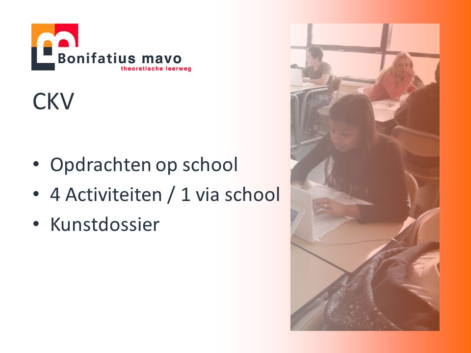 CKV Opdrachten op school 4 Activiteiten / 1 via school Kunstdossier