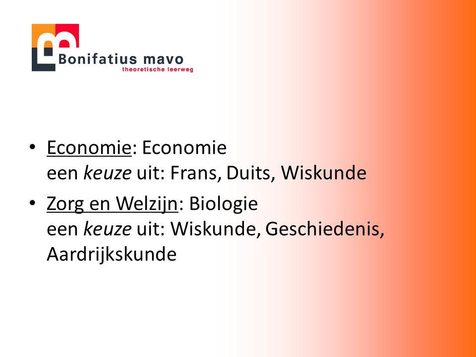 Economie: Economie een keuze uit: Frans, Duits, Wiskunde