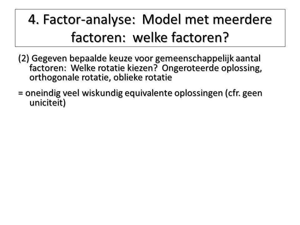 4. Factor-analyse: Model met meerdere factoren: welke factoren