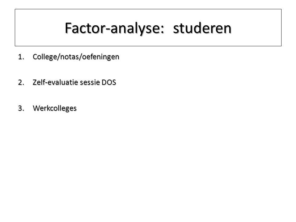 Factor-analyse: studeren