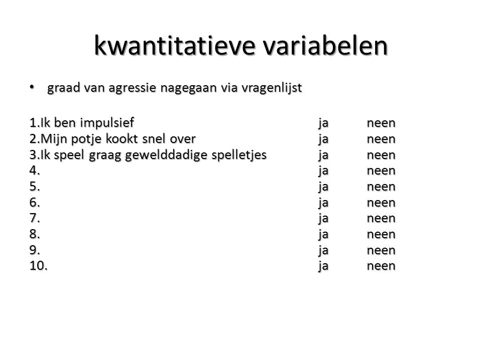 kwantitatieve variabelen