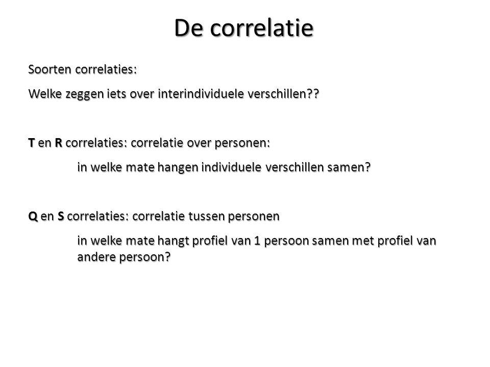 De correlatie Soorten correlaties: