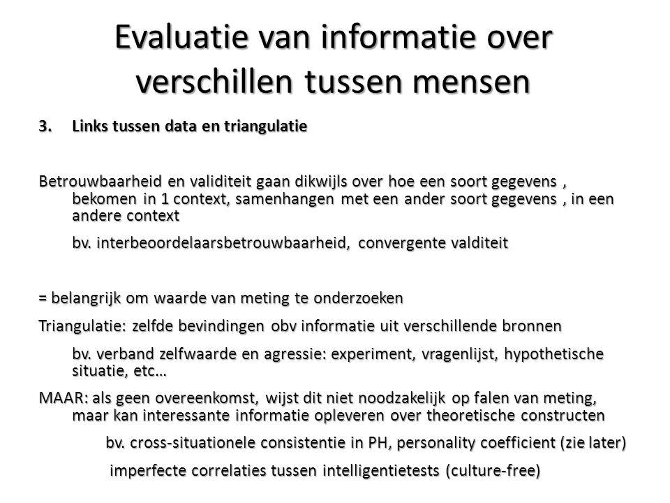 Evaluatie van informatie over verschillen tussen mensen