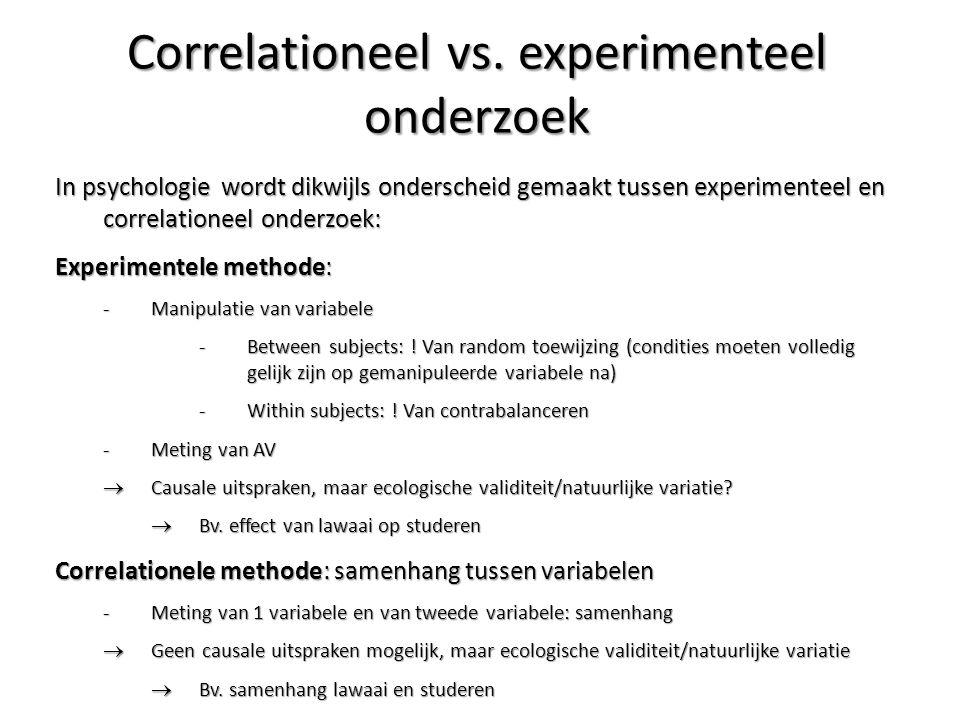 Correlationeel vs. experimenteel onderzoek