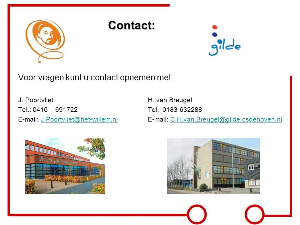 Contact: Voor vragen kunt u contact opnemen met: