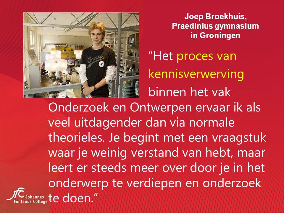 Joep Broekhuis, Praedinius gymnasium in Groningen