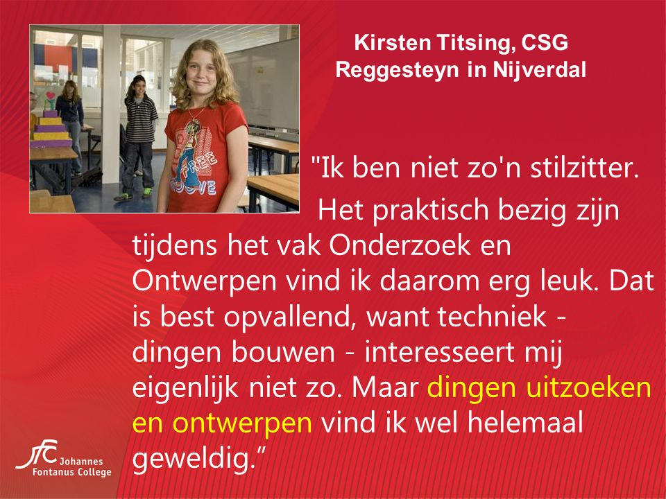 Kirsten Titsing, CSG Reggesteyn in Nijverdal