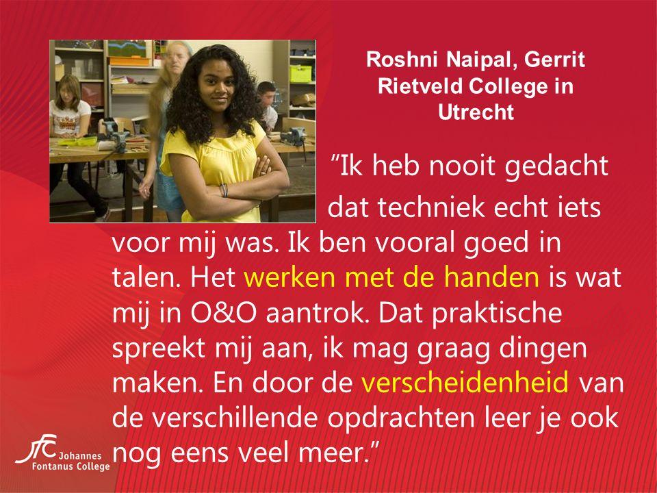 Roshni Naipal, Gerrit Rietveld College in Utrecht