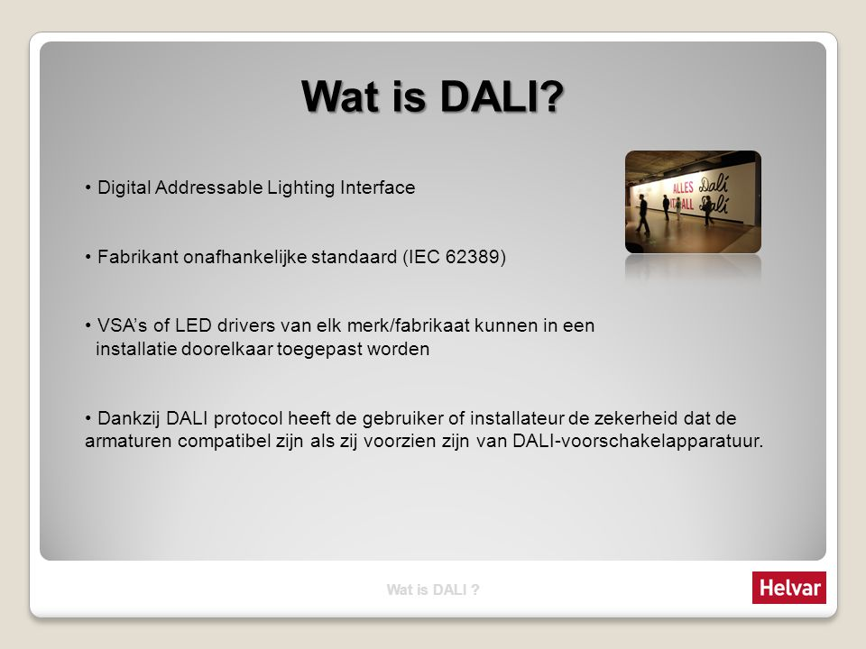 wat is dali digital addressable lighting interface