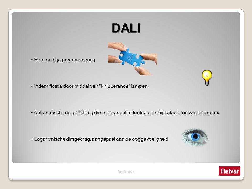 DALI Eenvoudige programmering