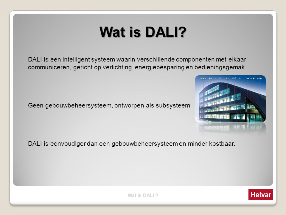 Wat is DALI