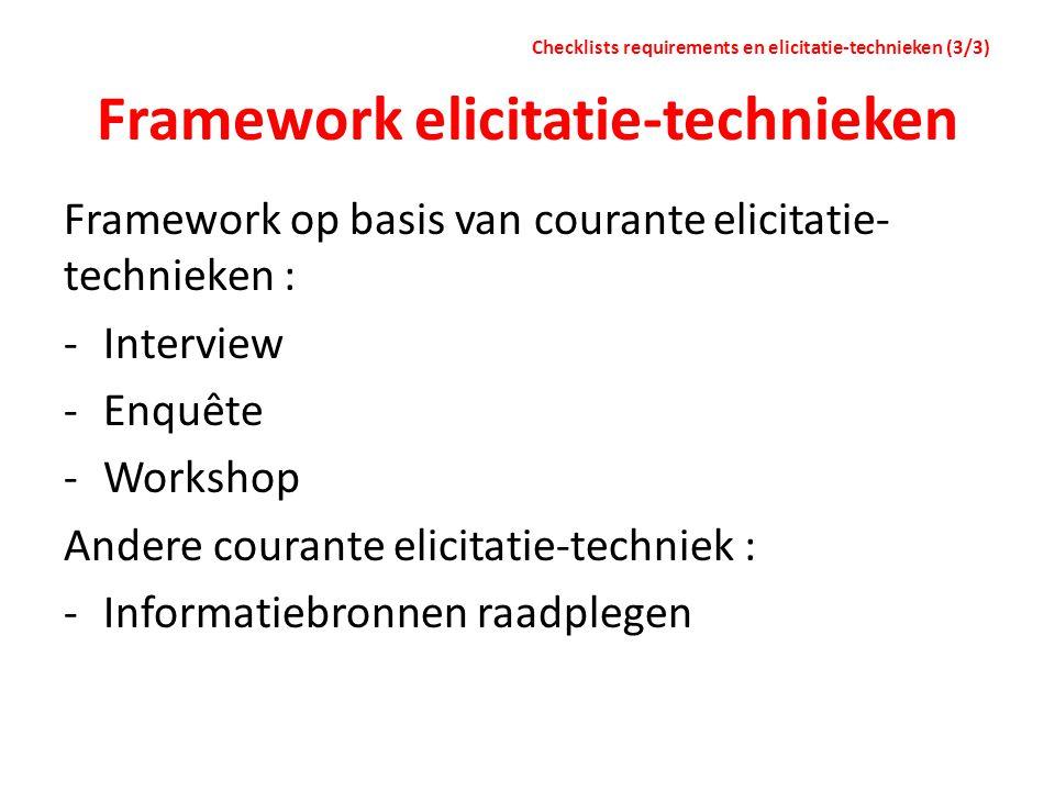 Framework elicitatie-technieken
