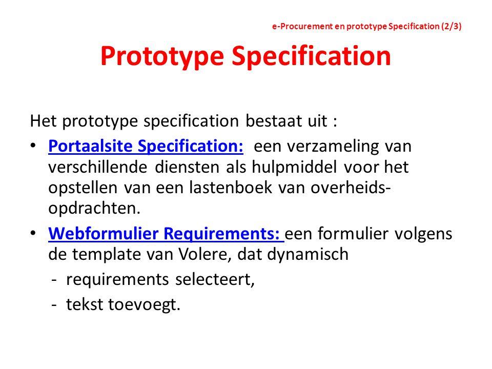 Prototype Specification