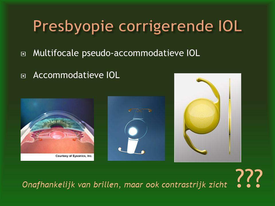 Presbyopie corrigerende IOL