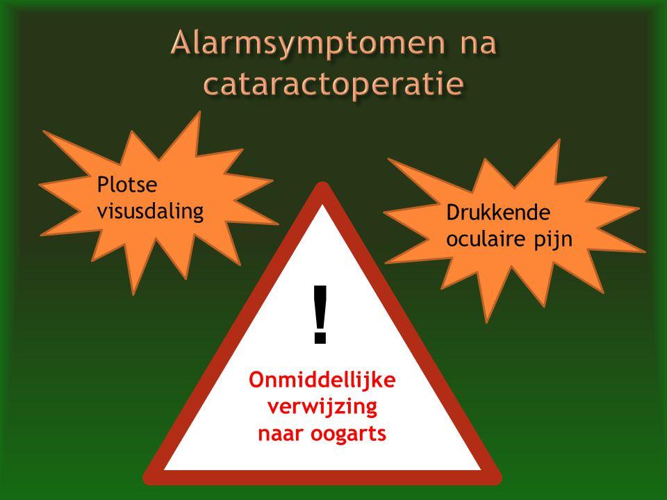 Alarmsymptomen na cataractoperatie