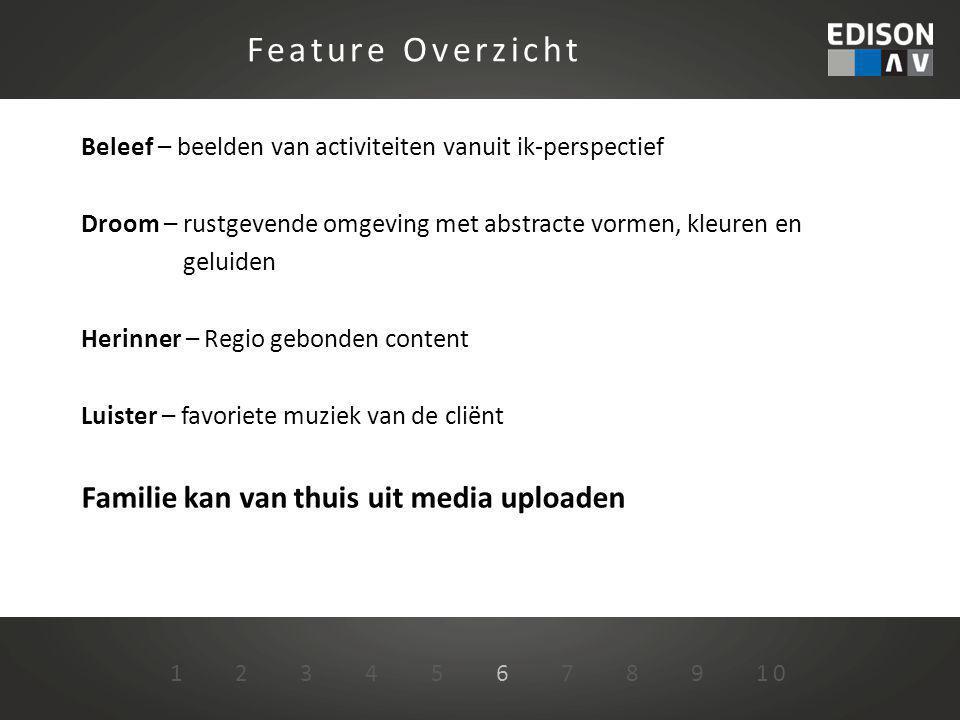 Feature Overzicht Familie kan van thuis uit media uploaden