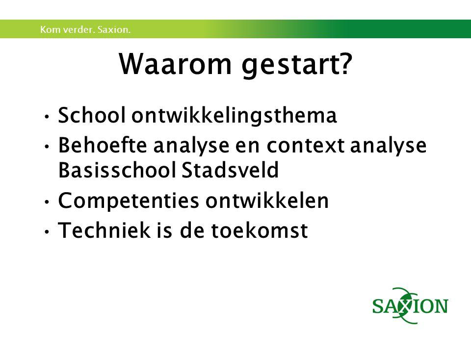 Waarom gestart School ontwikkelingsthema