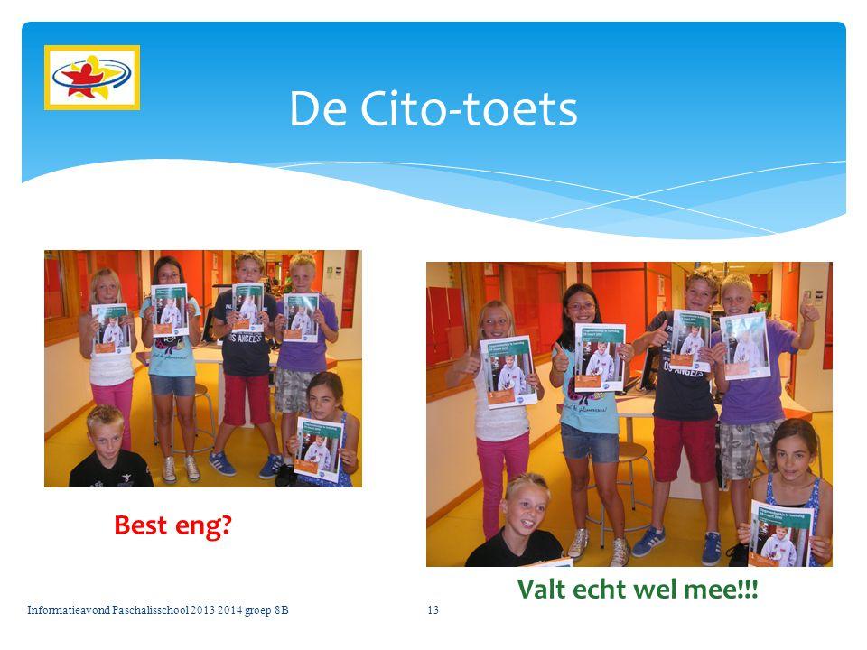 De Cito-toets Best eng Valt echt wel mee!!!