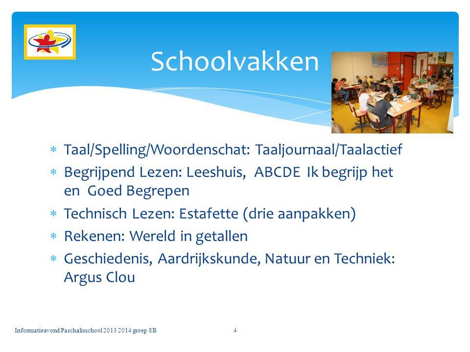 Schoolvakken Taal/Spelling/Woordenschat: Taaljournaal/Taalactief