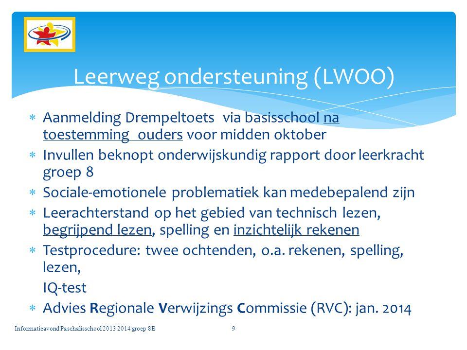 Leerweg ondersteuning (LWOO)