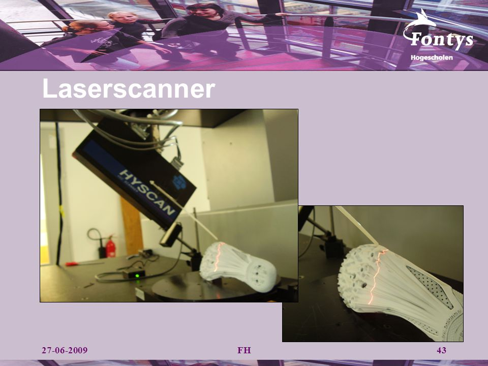 Laserscanner Systeem bestaat uit een CMM en een laserscanner. Technische specificaties: Hymarc. Afwijking 0,025 mm.