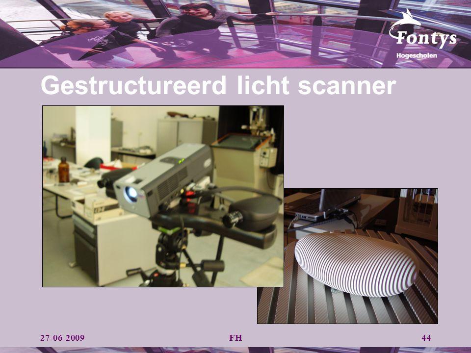 Gestructureerd licht scanner